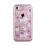 For Apple iPhone 7 7 Plus 6S 6 Plus Case Cover Love Elephant Pattern Painted TPU Material Plating PC Frame Combo Phone Case