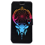 For Huawei P8 Lite (2017) P10 Case Cover Sheep Antlers Pattern HD Painted Voltage TPU Process PU Skin Phone Case