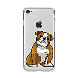 For Transparent Pattern Case Back Cover Case Cartoon Lovely Dog Soft TPU for IPhone 7 7Plus iPhone 6s 6 Plus iPhone 6s 6 iPhone 5s 5 5E 5C 4 4s