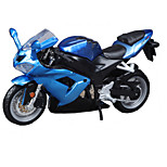 Motorcycle Toys Car Toys 1:18 ABS Blue Model & Building Toy