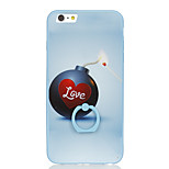 For Ring Holder Pattern Case Back Cover Case Word / Phrase Hard PC for Apple iPhone 6s Plus iPhone 6 Plus iPhone 6s iPhone 6
