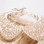 Dog Necklace Dog Clothes Summer Crystal/Rhinestone Fashion