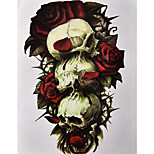 1Pcs Skull Rose 3D Tattoo Sticker