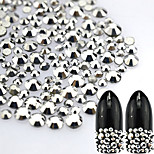 500pcs/bag Hot Fashion Glitter Nail Art DIY Beauty Labrador Rhinestone Decoration Sweet Sparkling Silver Mine Rhinestone Nail Art Labrador Rhinestone