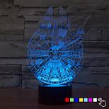 1pcs 7color לשנות מנורת לילה 3D LED מלחמת הכוכבים מנורה המילניום פלקון הוביל מנורת לילה מנורת שולחן בעיצוב הבית תאורה עבור ילד