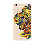 For Transparent Pattern Case  Flower Soft TPU for Apple iPhone 7 Plus 7 iPhone 6 Plus 6  iPhone 5 SE 5C iphone 4