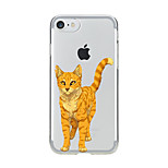 For Transparent Pattern Case Back Cover Case Cartoon Lovely Cat Soft TPU for IPhone 7 7Plus iPhone 6s 6 Plus iPhone 6s 6 iPhone 5s 5 5E 5C 4 4s