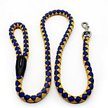 Dog Leash Adjustable/Retractable Solid Red Black Blue Nylon