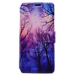 For Sony Xperia XA E5 Case Cover Tree Pattern HD Painted Voltage TPU Process PU Skin Phone Case Xperia C6 Ultra