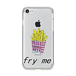 Für Transparent Muster Hülle Rückseitenabdeckung Hülle Zeichentrick Weich TPU für AppleiPhone 7 plus iPhone 7 iPhone 6s Plus iPhone 6