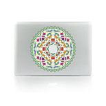 For MacBook Air 11 13/Pro13 15/Pro With Retina13 15/MacBook12 The Circle Wreath Decorative Skin Sticker Glow in The Dark
