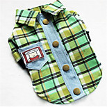 Dog Shirt / T-Shirt Dog Clothes Spring/Fall British Casual/Daily Purple Yellow Green