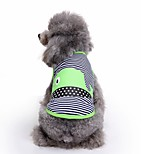 Cat Dog Vest Dog Clothes Summer Stripe Cute Fashion Casual/Daily Dolphin Stripped for Pets Dogs