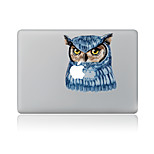 For MacBook Air 11 13/Pro13 15/Pro With Retina13 15/MacBook12 Blue Owl Decorative Skin Sticker