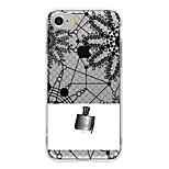 For Translucent Case Back Cover Case Lace Printing Soft TPU for Apple iPhone 7 Plus iPhone 7 iPhone 6s Plus iPhone 6 Plus iPhone 6s