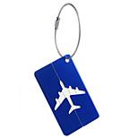 1pc Luggage Tag Waterproof Portable Mini Size for Aluminium Alloy-White Black Dark Blue tea brown Wine