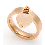 Love Heart Shape  Stainless Steel Rings For Women 18K Gold Plated Fashion Jewelry
