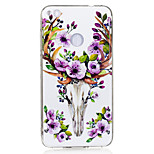 For Huawei P8 Lite(2017) P10 Case Cover Sika Deer Pattern Luminous TPU Material IMD Process Soft Case Phone Case P10 Lite P9 Lite P8 Lite