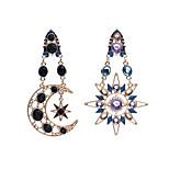 Dangle Earrings Imitation Diamond Acrylic Unique Design Dangling Style Pendant Euramerican Fashion Personalized Acrylic Chrome Moon Sun