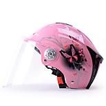 YEMA 310 Motorcycle Helmet Summer ABS Anti-UV Half Helmet For 54-61cm with Transparent Lens