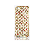 For Rhinestone Plating Case Back Cover Case Solid Color Soft TPU for Apple iPhone 6s Plus/6 Plus iPhone 6s/6 iPhone SE/5s/5