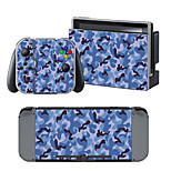 B-Skin®  Blue Camouflage Cover Sticker For Nintendo Switch Novelty Portable