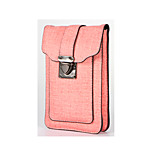 For Wallet Shockproof Case Pouch Bag Case Solid Color Hard PU Leather for Universal Other