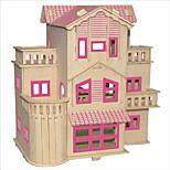 Jigsaw Puzzles DIY KIT Building Blocks 3D Puzzles Educational French Villa Wooden Puzzles Building Blocks DIY ToysSquare Famous