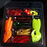 1 pcs Señuelos blandos / Vinilos Colores Aleatorios 70 g Onza mm pulgada,Plástico Pesca en General