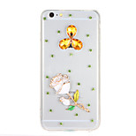 For Rhinestone Transparent Case Back Cover Case Glitter Shine Flower Hard PC for Apple iPhone 7 7Plus 6sPlus 6plus 6s 6