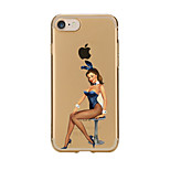 For Transparent Pattern Case Back Cover Case  Hot  Sexy Lady Soft TPU for IPhone 7 7 Plus iPhone 6s 6 Plus iPhone 6s 6 iPhone 5s 5 5E 5C 4 4s