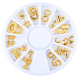 1PC Nail Art Metal The Rivet The Patch Act The Role Ofing Is Tasted Rotary Table
