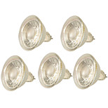 5W GX5.3 Focos LED MR16 1 COB 500LM lm Blanco Cálido Blanco Fresco Regulable Decorativa AC 100-240 V 5 piezas