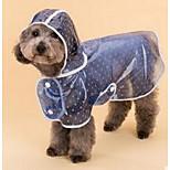 Dog Rain Coat Blue Pink Dog Clothes Winter Spring/Fall Polka Dots Cute