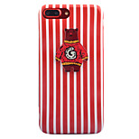 For Apple iPhone 7 7 Plus 6S 6 Plus Case Cover Cartoon Bear Stripes Pattern Thicker TPU Material IMD Process Soft Case Phone Case