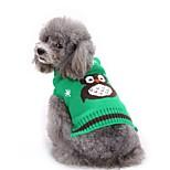 Gatos Perros Suéteres Ropa para Perro Invierno Animal Moda Casual/Diario Halloween Naranja Rojo Verde Azul