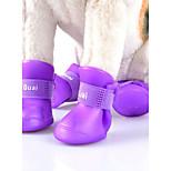 Gatos Perros Zapatos y Botas Adorable Moda Deportes A Prueba de Agua Reversible Paravientos: Un Color Naranja Morado Amarillo VerdeCuero