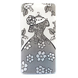 For Huawei P8 Lite (2017) P9 Lite Case Cover Dress Pattern Painted Point Drill Scrub TPU Material Luminous Phone Case