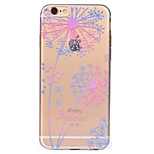 For Dandelion Pattern Soft TPU Material Phone Case for iPhone 7 Plus 7 6S Plus 6S 6 SE 5