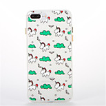 For Glow in the Dark Pattern Case Back Cover Case Unicorn Soft TPU for Apple iPhone 7 Plus 7  6s Plus 6 Plus 6s 6 5s 5