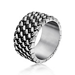 Ring Circle Titanium Steel Irregular Silver Jewelry For Daily 1pc