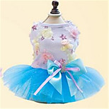 Dog Dress Dog Clothes Spring/Fall Bowknot Cute