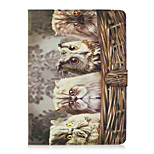 For Apple iPad 4 3 2 Case Cover Owl Pattern Painted Card Stent Wallet PU Skin Material Flat Protective Shell
