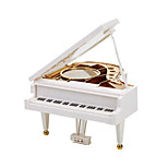 Music Box Music Classic & Timeless Glass Plastic White