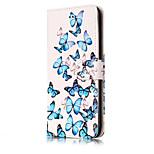 Para Porta-Cartão Carteira Com Suporte Flip Estampada Capinha Corpo Inteiro Capinha Flor Rígida Couro PU para AppleiPhone 7 Plus iPhone 7