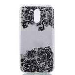For Moto G4 Plus G4 Double IMD Case Back Cover Case Black Bottom Flower Pattern Soft TPU