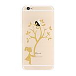 Für Transparent Muster Hülle Rückseitenabdeckung Hülle Baum Weich TPU für AppleiPhone 7 plus iPhone 7 iPhone 6s Plus iPhone 6 Plus iPhone