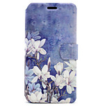 For Huawei P8 Lite (2017) P10 Case Cover White Flowers Pattern HD Painted Voltage TPU Process PU Skin Phone Case