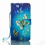 For Huawei P8 Lite (2017) Mate 9 Card Holder Wallet with Stand Flip Pattern Case Full Body Case Butterfly Hard PU Leather