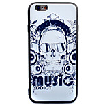 For Apple iPhone 7 7 Plus 6s 6 Plus Case Cover Skeleton Letters Pattern Thicker TPU Material Scrub Soft Case Phone Case
